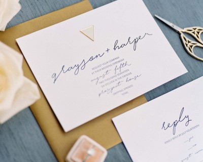 GOLD EMBLELLISHED INVITATIONS